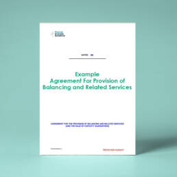 Example Agreement for the Provision of Balancing and Related Services